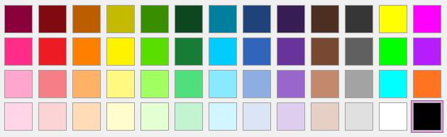 OneNote 2016 color palette