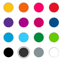 OneNote for Windows 10 and iOS color palette