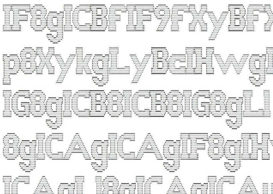 Base64 ciphertext displayed as ASCII art