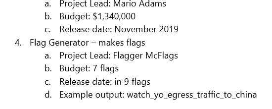 Excerpt of extracted document containing the flag